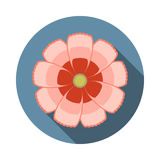 Cosmos Flower Flat Icon with shadow Stock Photography