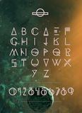 Cosmos font. Cosmos  font and number Royalty Free Stock Photo