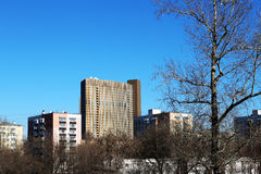 Cosmos Hotel, north-eastern Moscow Royalty Free Stock Images