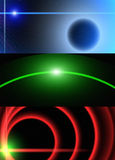 Cosmos lights Banners Stock Photography