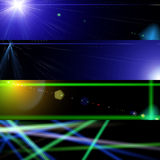 Cosmos lights Banners. Banners, headers abstract hi tech cosmos lights Royalty Free Stock Photos