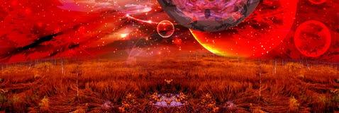 Free Cosmos Panorama.mars. Illustration Royalty Free Stock Image - 121609536