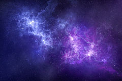 Cosmos scene of nebulae and stars in universum Stock Photo
