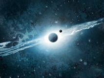 Cosmos Space Art. Illustration of deep space (photoshop drawing Stock Photo