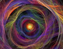 Cosmos spiral fractal Stock Images