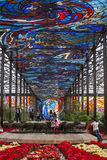 Cosmovitral of Toluca. Mexico. Toluca, Mexico - December 26, 2015: The Cosmovitral is a botanical garden of about 3,200 m² is located in the city of Toluca Stock Photos