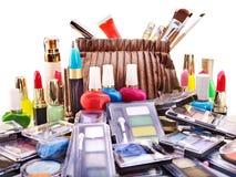 Cosméticos decorativos para el maquillaje. Fotos de archivo
