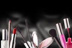 Cosméticos Maquillaje, belleza y concepto de la frescura Foto de archivo