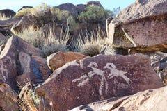 Coso pasma petroglify Fotografia Stock