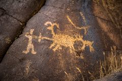 Coso petroglify w America zdjęcie stock