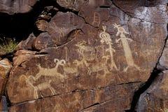 Coso Reichweiten-Petroglyphen lizenzfreies stockbild