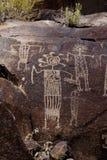 Coso Reichweiten-Petroglyphen Lizenzfreie Stockfotos