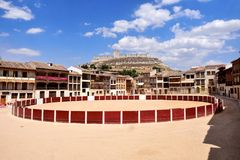 Coso square of Penafiel, Valladolid province, Castilla-Leon,. El Coso square of Penafiel, Valladolid province, Castilla-Leon, Spain stock photography