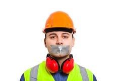 Cospirazione di silenzio Immagini Stock Libere da Diritti