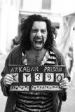 Cosplay假装了作为囚犯azkaban 免版税库存照片