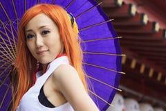 cosplay女孩日语 库存照片