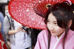 cosplay女孩日语 免版税图库摄影