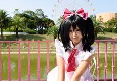 cosplay女孩日语 免版税库存照片