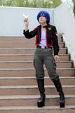 cosplay女孩日语 图库摄影
