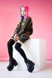 cosplay日本的芳香树脂的少妇 免版税库存图片
