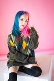 cosplay日本的芳香树脂的少妇 免版税图库摄影