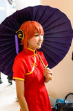 cosplay未认出的日本的芳香树脂。 库存照片