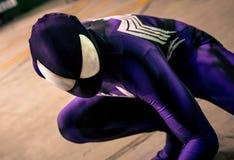 cosplay的高空作业的建筑工人 免版税图库摄影