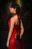 Cosplay, εδρεύουσα κακή συνήθεια της Ada Wong στοκ εικόνες