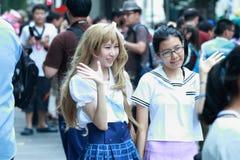 Cosplay κορίτσια βλαστών φωτογράφων στοκ εικόνες