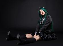 cosplay σκοτεινές παχιές νεολαίες πορτρέτου κοριτσιών χαρακτήρα Στοκ εικόνα με δικαίωμα ελεύθερης χρήσης