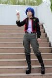 cosplay японец девушки Стоковая Фотография