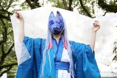 Cosplay年轻日本女孩 免版税库存照片