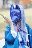 Cosplay年轻日本女孩 免版税库存图片