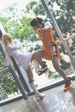 亚洲常规cosplay比赛 库存图片