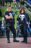 Cosplay als ` das Punisher ` stockfotos