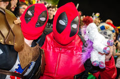 Cosplay as Deadpool character Royalty Free Stock Photos
