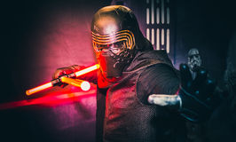 Cosplay as Kylo Ren from Star Wars Royalty Free Stock Images
