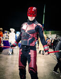 Cosplay as Marvel character `Daredevil` Royalty Free Stock Images