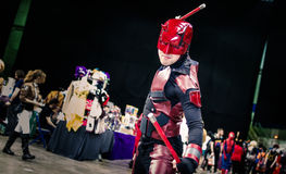 Cosplay as Marvel character `Daredevil` Royalty Free Stock Photography