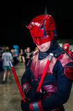 Cosplay as Marvel character `Daredevil` Stock Photos