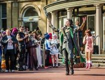 Cosplay as Marvel character `Loki` Royalty Free Stock Photo