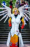 Cosplay as `Mercy` from Overwatch Stock Image