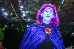 Cosplay as Raven from DC Comics Stock Images