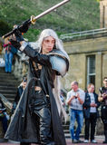 Cosplay as `Sephiroth` from Final Fantasy Royalty Free Stock Photo