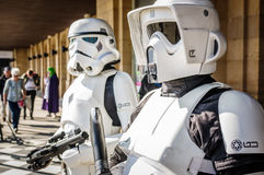 Cosplay as Star Wars characters Stock Photography