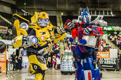 Cosplay as Transformers characters Stock Images