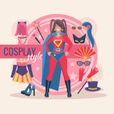 Cosplay Character Pack For Girl Royalty Free Stock Photo