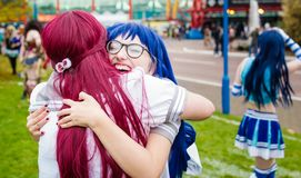 Cosplay comme amour vivant ! caractères Photographie stock