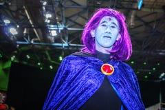 Cosplay comme Raven des bandes dessinées de C.C Images stock