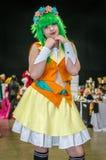 Cosplay comme Vocaloid Gumi Photos stock